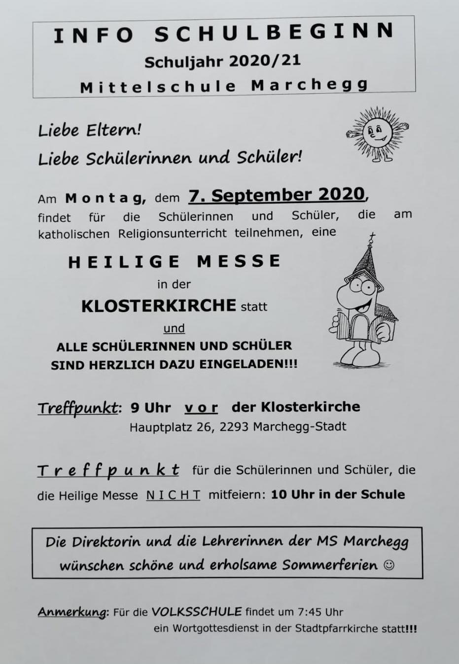 Schulbeginn 2020_2021
